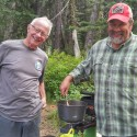 Steve Weston & Bruce preparing dinner